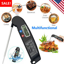 Instant Read Meat Thermometer Digital LED Cooking BBQ Food Thermometer Foldable