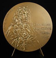 Médaille Christian Huygens Mathématicien théorie ondulatoire lumière astronomie