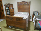 Antique  Hand Crafted Bed Headboard Footboard