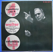 Bruno Walter BRAHM'S SYMPHONY No. 4 IN E MINOR OP. 98 Columbia Masterworks LP
