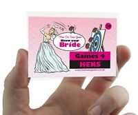 Know The Bride Hen Party Accessory Game Cards Quiz Hen Do Activity Ice Breaker