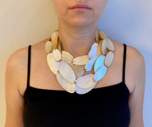 Vintage Monies Mother-of-Pearl Necklace
