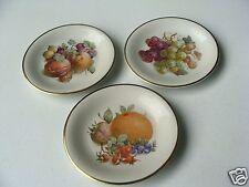 "(3)  Vintage Schwarzenhammer Germany Fruit Plates w/Gold Trim 7 3/4"" GREAT"
