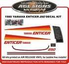 1980 's YAMAHA ENTICER 250 SNOWMOBILE DECAL KIT reproductions graphics