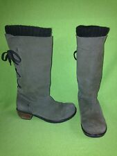 Brown Nubuck Fly London Rear-Lace Boots 8 39