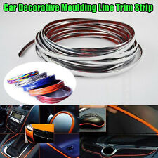 1m x 4mm U Shape Air Vent CAR Interior Grille Rim Chrome Door Edge Trim Strip