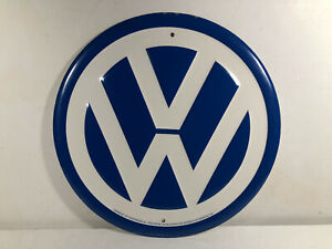 VW Volkswagen Metal Round AG Wolfsburg For Desperate Enterprises Vintage 11 3/4""