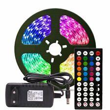 32ft 10M 5050 RGB LED music light bar+IR control+12V 2A EU/US/UK/AU adapter plug
