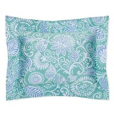 Sferra 2180 Ressa King Pillow Sham Aqua/Cornflower Made in Italy Nwt