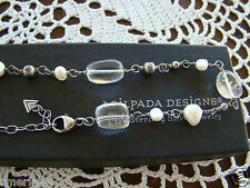 Necklace N1602 Retired! $69 Silpada Sterling Silver, Pearl, Crystal