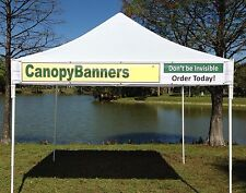 Canopy Banner Kit - Hang Your Banner On The Front Of Your Canopy - Vinyl Banner