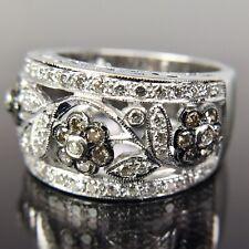 Le Vian 18k White Gold Diamond Flower Band Ring
