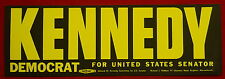 Edward Ted Kennedy for Senator 1962 vintage campaign unused bumper sticker