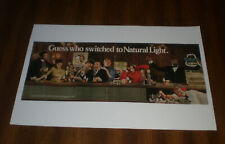 NATURAL LIGHT BEER COLOR 11x17 PRINT - MICKEY MANTLE - FRAZIER - BUONICONTI