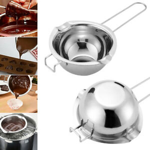 Stainless Steel Chocolate Butter Melting Pot Wax Melt Pot Double Boiler Tools UK