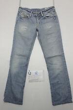 Diesel bebel zampa vita bassa jeans donna usato (Cod.U8) Tg.43 W29 L34 vintage