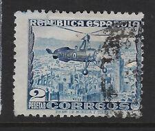 SPAIN : 1935 2p blue Autogyro (original) SG 779 used