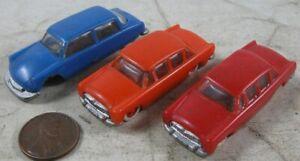 Rare Vintage 1950's Hard Plastic Miniature Cars