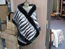EMPRESS CHINCHILLA STRAIGHT STOLE CAPE WRAP SHAWL SHRUG COAT Black Fox $18,000