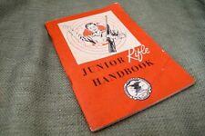 Vintage 1960 NRA Junior Rifle Handbook NATIONAL RIFLE ASSOCIATION