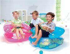 BESTWAY COMFORT QUEST INFLATABLE TRANSPARENT SOFA SEAT CHAIR  KIDS CHILD SUMMER