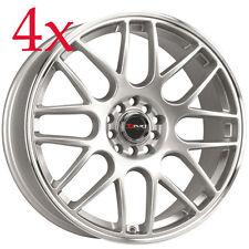 Drag Wheels DR-34 17x7.5 5x100 5x114 +45 Silver Rims For Tiburon Corolla Sonata
