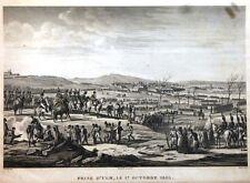 """Eau forte - François Pigeot, """"Prise d'Ulm, le 17 octobre 1805"""""""