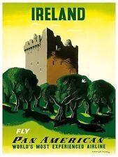 "Ireland Art Vintage Travel Poster Print 11x14"" Rare Hot New XR328"