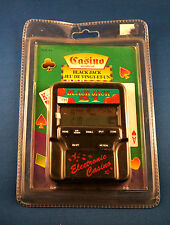 BLACKJACK 21 ELECTRONIC HANDHELD GAME CASINO CARDS TRAVEL LCD VIDEO TOY VINTAGE