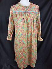 Miss Elaine women's M/L night gown Paisley Cotton Vintage