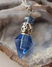 Pet Memorial Jewelry | Pet Cat Dog Ash Cremation Urn Necklace  Paw Print|Blue 20