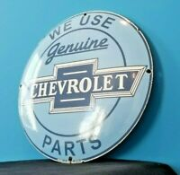 VINTAGE CHEVROLET PORCELAIN BOW-TIE GAS TRUCKS SERVICE SALES PARTS SIGN