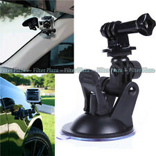 """Car Suction Cup+1/4"""" Tripod Mount Adapter+Screw for GoPro HD Hero 2 3 3+4 Camera"""