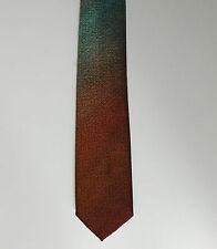 Cameo Vintage Con franjas Corbata Bronce Y Turquesa Tejido Rayas 1960s 1970s