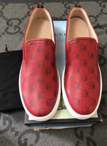 NEW 100% AUTHENTIC GUCCI GHOST SNEAKERS SLIP ON SKULLS LIMITED EDITION SZ G 14