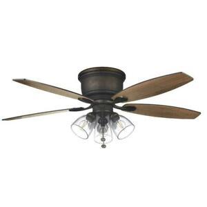HAMPTON BAY Stoneridge 52 in. Bronze Hugger LED Ceiling Fan #1656