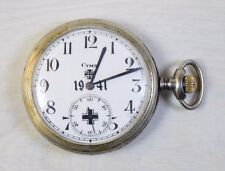 Vintage MILITARY WW2 Years Swiss & German CYMA Pocket Watch Serviced WWII 1941