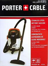 Porter Cable Stainless Steel 4-gallon Wet/Dry Vacuum and Accessories 4 HP