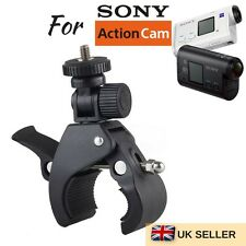 Bicycle Bike Motorbike Handlebar Mount Clamp for SONY All Action cameras HDR FDR