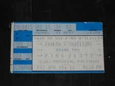 PINK FLOYD 1988 TICKET STUB* LOS ANGELES MEMORIAL COLISEUM* 4/15/88* MEGA RARE*