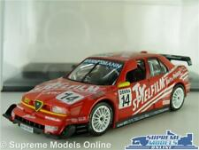 ALFA ROMEO 155 V6 TI MODEL CAR 1996 RED 1:43 SCALE TOURING CAR IXO + CASE K8