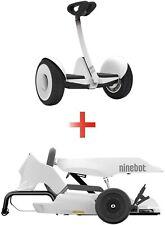 Segway Ninebot S and GoKart Drift Kit Bundle - White - New - Free Shipping