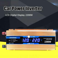 2200W LCD Digital Car Power Inverter DC12V to AC 220V Adapter Modified Converter