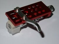 Machined Red Anodized /Replacement Audio Technica AT3600L Cartridge /Litz Wire