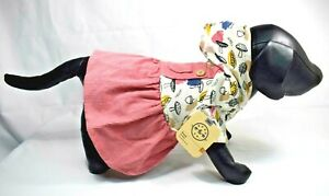 Bond & Co. - Pink Woods Overall Dog (Pet) Dress (Acorns, Leaves) Size: XS (New)