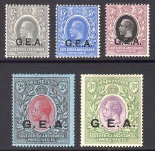 TANGANYIKA 1921 KGV G.E.A. opt wmk Script CA set to 3r UM,M, SG 63-67 cat £223