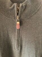 Orvis Mens Pullover 1/4 Zip Cashmere/Silk/Cotton Blend Sweater Size Large