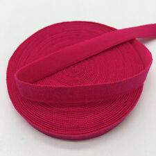 """5yds 3/8"""" Solid Fold Over Elastics Spandex Satin Band Lace Sewing Trim Rose"""