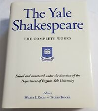 THE YALE SHAKESPEARE THE COMPLETE WORKS BY CROSS & BURKE HC/DJ VVG 1514 PAGES