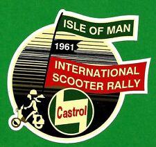 ISLE OF MAN MOTOR SCOOTER RALLY 1961 Vinyl Decal Sticker VESPA LAMBRETTA CASTROL